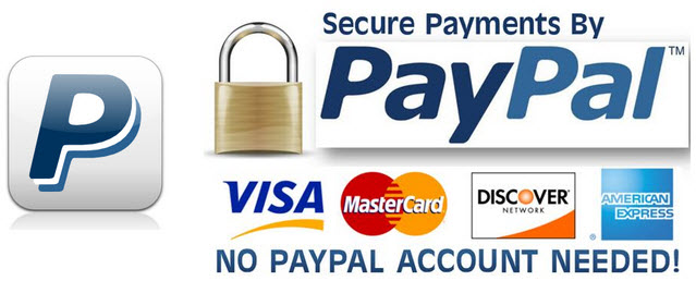 Paypal major credit cards accepted